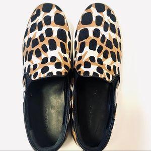 CELINE Slip On Sneakers Animal Print Sz.9.5 Shoes